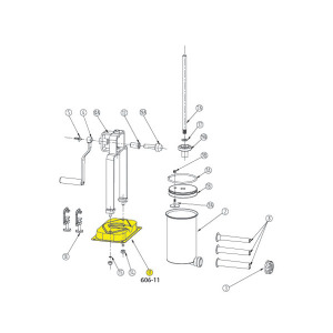 Schematic - Base for 5 lb. Vertical Stuffer # 606 & 606SS