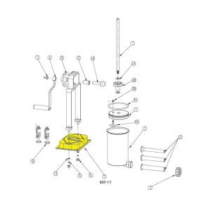 Schematic - Base for 15 lb. Vertical Stuffer # 607 & 607SS