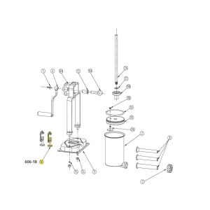Schematic - Clamp for 5 lb. Vertical Stuffer # 606 & 606SS