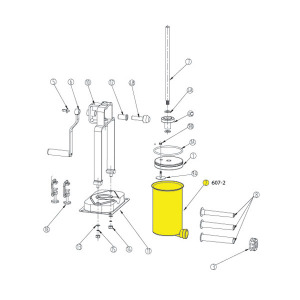 Schematic - Cylinder for 15 lb. Vertical Stuffer # 607 & 607SS
