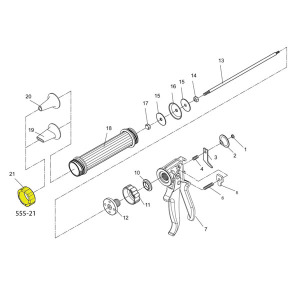 Gun Schematic - Retaining Ring - For Jerky Cannon Or Gun