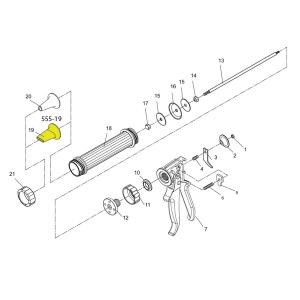 Schematic - Jerky Gun Replacement Flat Nozzle