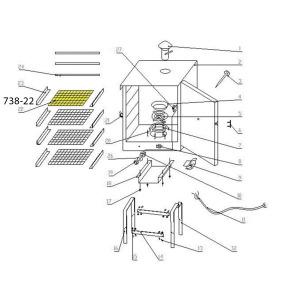 Schematic - Wire Shelf for 20 lb. Smoker # 738