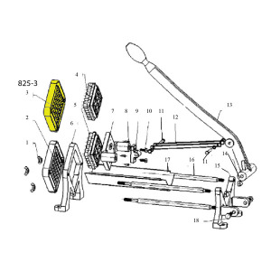 Schematic - 3/8 inch Cutting Blade And Push Plate for French Fry Cutter # 825