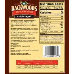 Backwoods 5 LB Caribbean Jerk Jerky Seasoning - Back