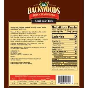 Backwoods 25 LB Caribbean Jerk Jerky Seasoning - Back