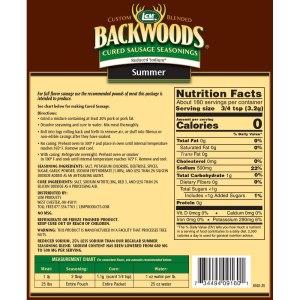 Backwoods Reduced Sodium Summer Sausage Cured Sausage Seasoning