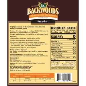 Backwoods Reduced Sodium Fresh Sausage Seasoning
