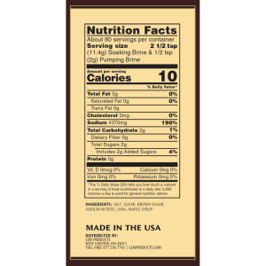 Sweeter Than Sweet Ham Kit Nutritional Facts