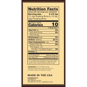 Brown Sugar Ham Kit Nutritional Facts