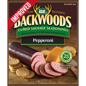 Backwoods Pepperoni Cured Sausage Seasoning - Makes 25 lbs. - Directions & Nutritional Info