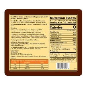 Backwoods Breakfast Fresh Sausage Seasoning - Makes 100 lbs. - Directions & Nutritional Info