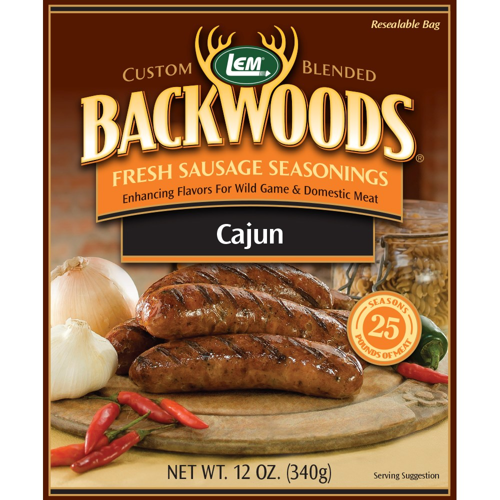 Backwoods Cajun Fresh Sausage Seasoning - Makes 25 lbs.