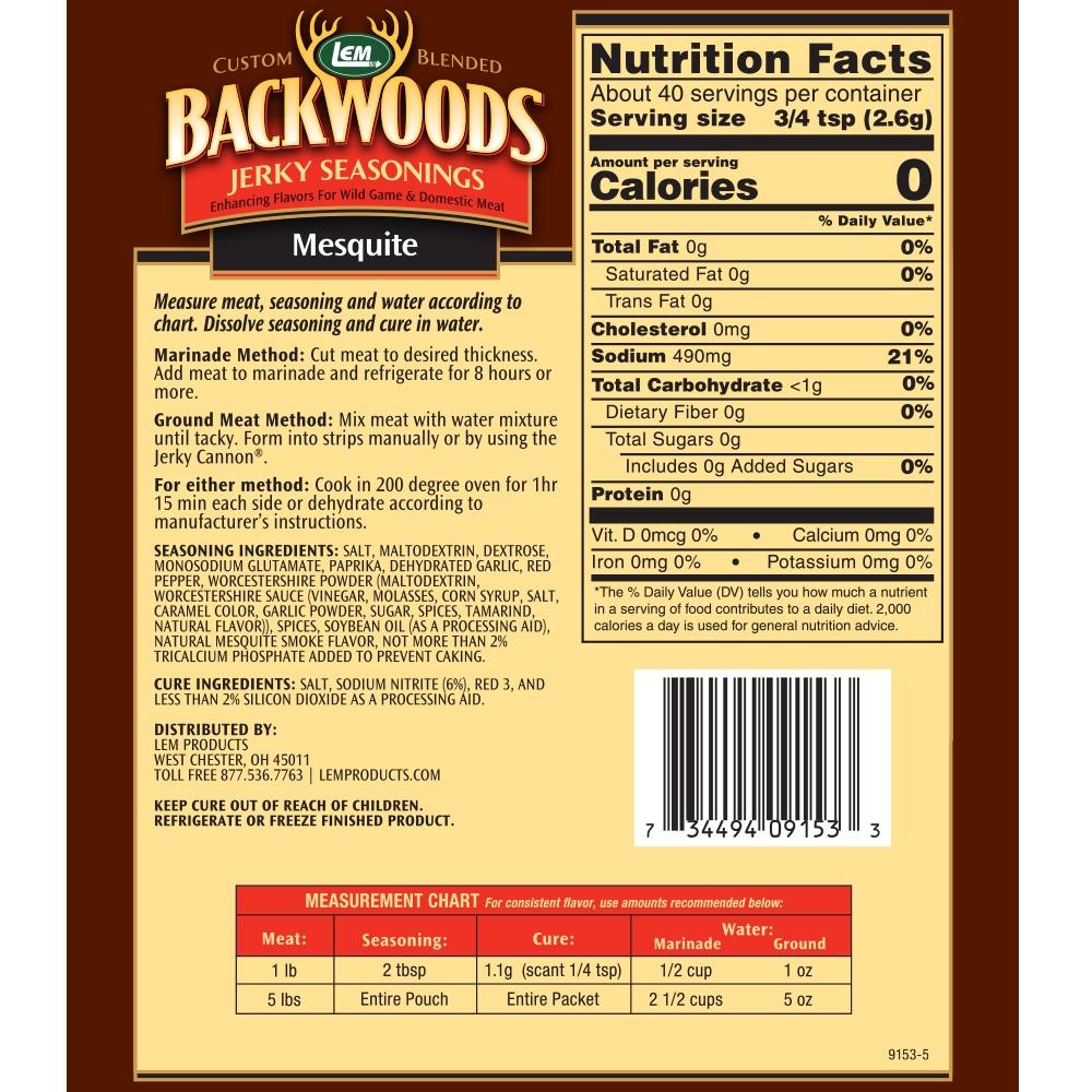 Backwoods Mesquite Jerky 5lb Back