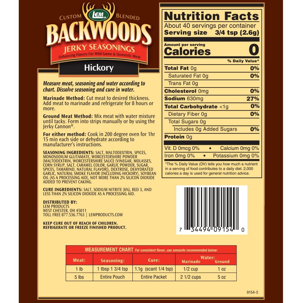 Backwoods Hickory Jerky 5lb Back