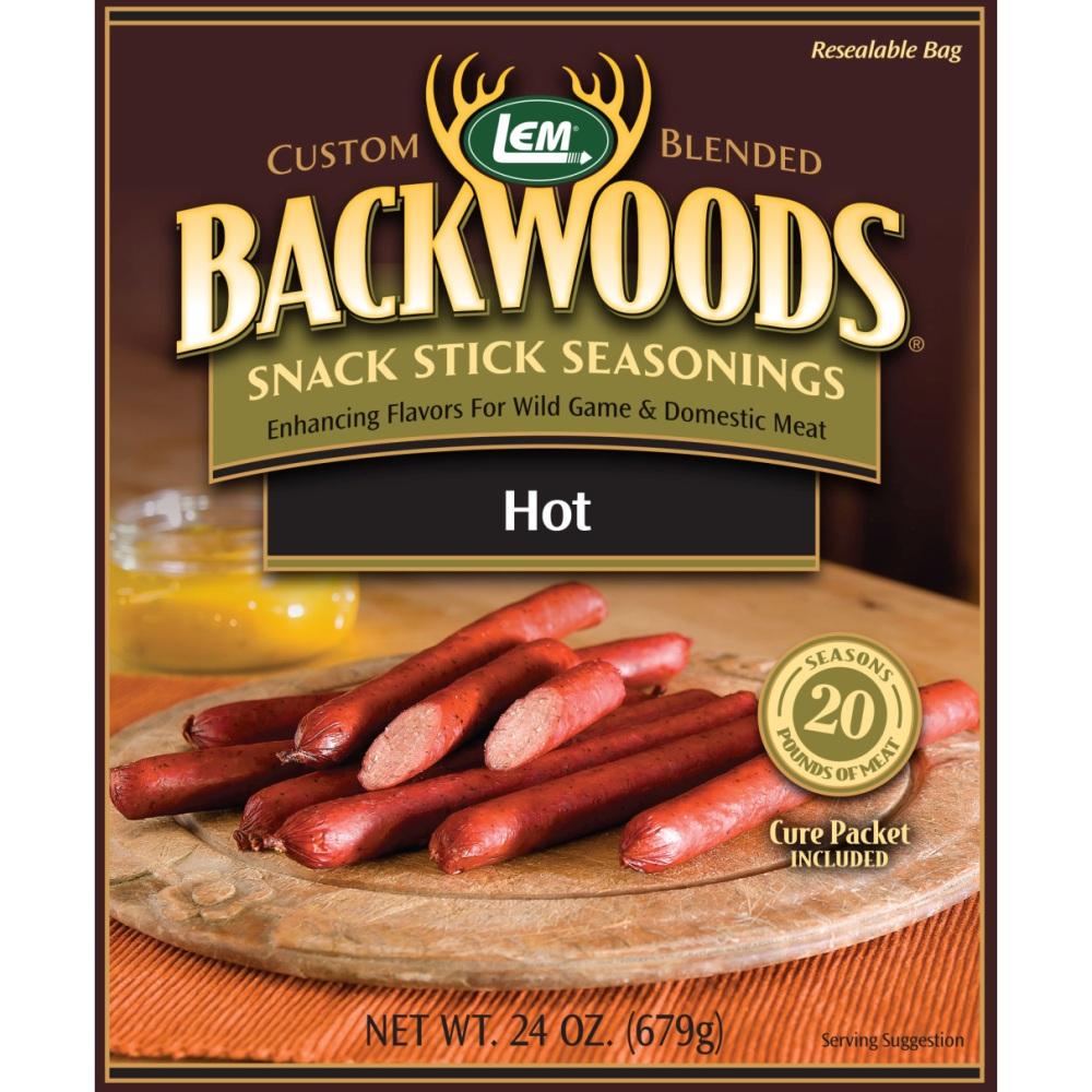 Backwoods Hot Snack Stick Seasoning - Makes 25 lbs.