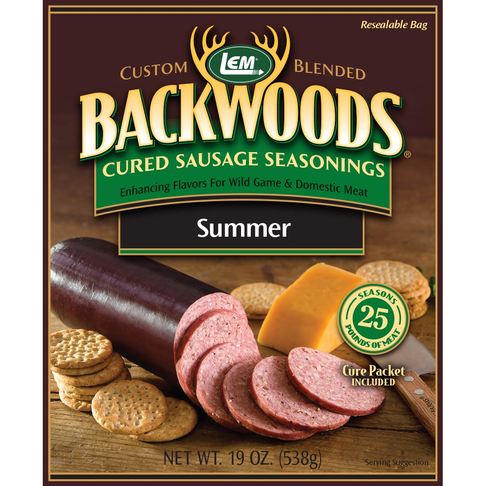 Backwoods Summer Sausage Cured Sausage Seasoning - Makes 100 lbs.