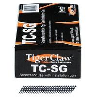 "Tiger Claw TC-SG Scrails (Screw Nails) for TC-G, 6 x 1-1/2"", 930 pcs, Carbon Steel"
