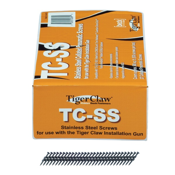 Tiger Claw TC-SS Scrails for TC-G, 6 x 1-1/2, 930 pcs, Stainless Steel