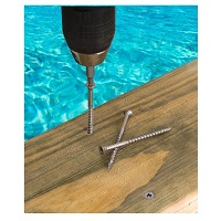 Stainless Steel Deck Screws - salt water safe type 316