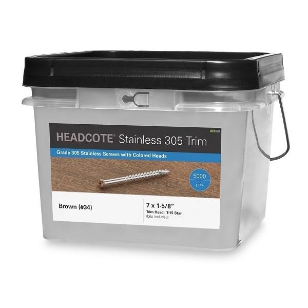 Headcote Stainless Steel Color Coated Screws 5000 piece box