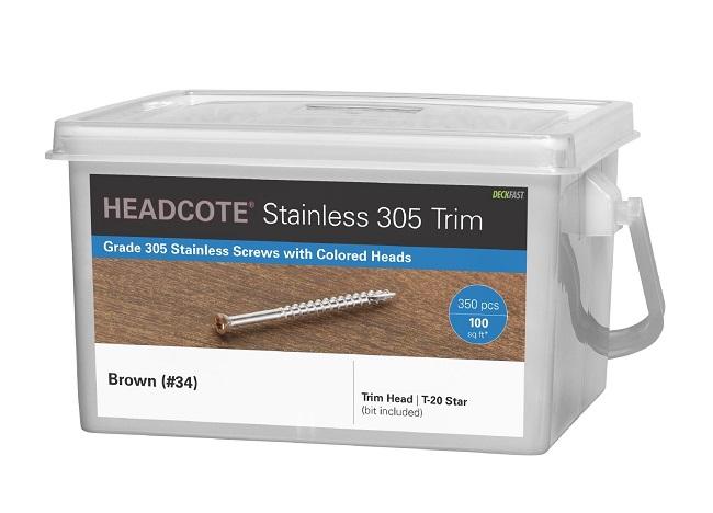 """HEADCOTE® Trim Screw #7 x 2-1/4"""" 305 Stainless Steel"""