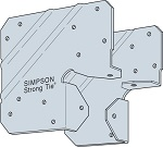 Simpson LCE4SS post cap + nails (pair) 316SS