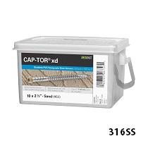 "Cap-Tor® XD Composite Deck Screws - #10 x 2-1/2"" - 316 Stainless Steel"