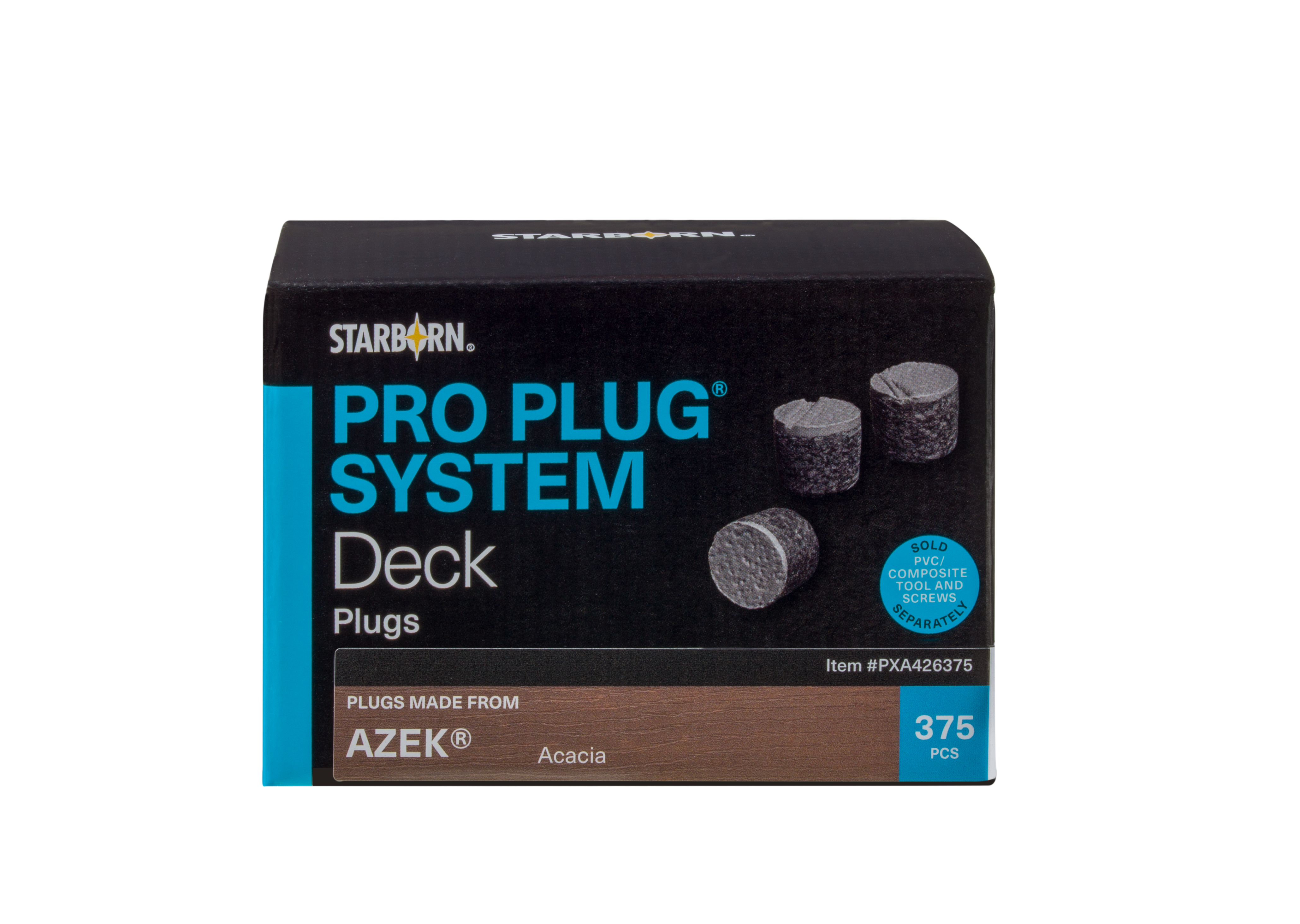 Pro Plug® System 375 Plugs for use with AZEK® Decks