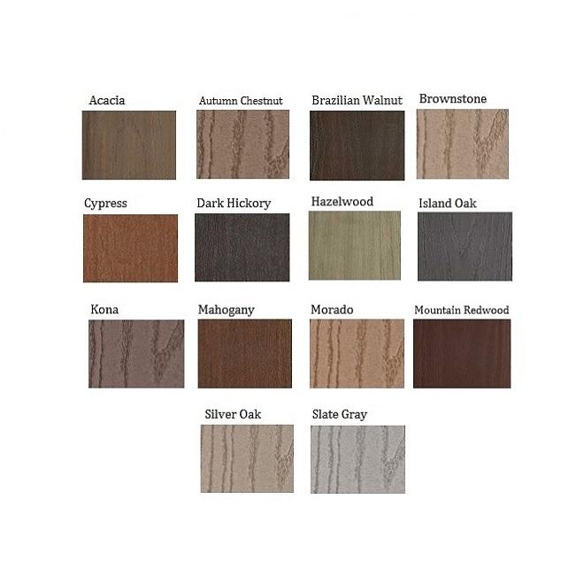 Azek Deck Plug Color Chart