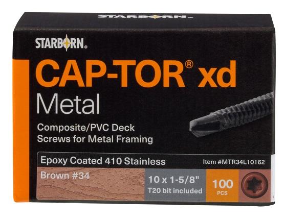 "Cap-Tor xd Metal Screws #10 x 1-5/8"""