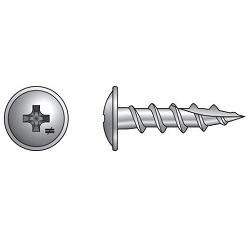Wire-Lath Modified Truss Head Screw for Wood 305 Stainless Steel
