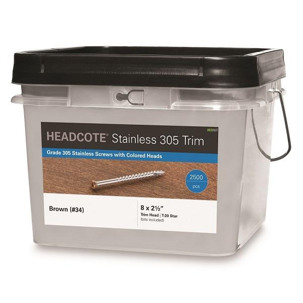 "HEADCOTE™ Trim Screw #8 X 2-1/2"" 2500pc Box"