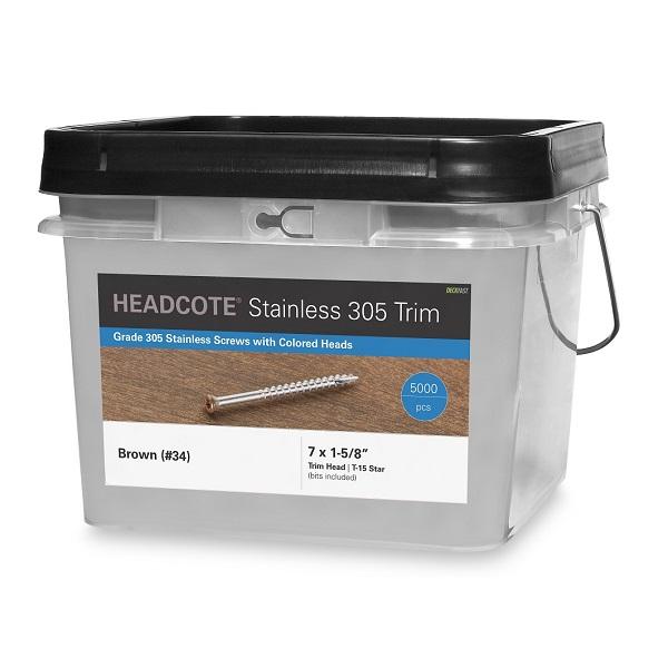 "HEADCOTE® Trim Screw #7 x 1-5/8"" 5000pc Box"