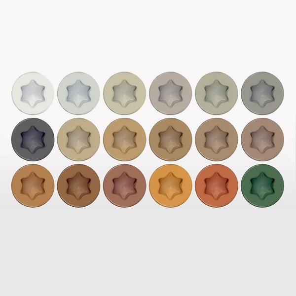 Headcote colored screw color options
