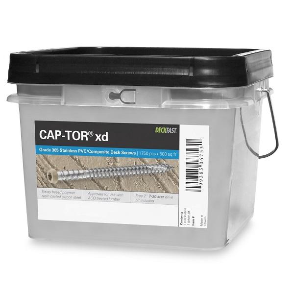 "Cap-Tor® XD Composite Deck Screws - #10 x 2-1/2"" - 305 Stainless Steel 1750pc"