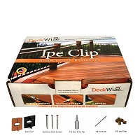 Ipe Clip Extreme kit with clips and screws