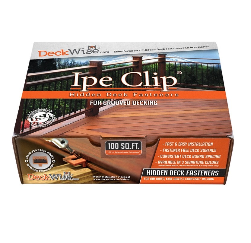 """DeckWise® Ipe Clip® Extreme S® for 5/32"""" Spacing"""