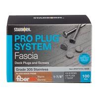 Pro Plug® System for Fiberon® Fascia Plugs & Stainless Steel Screws - 100pc