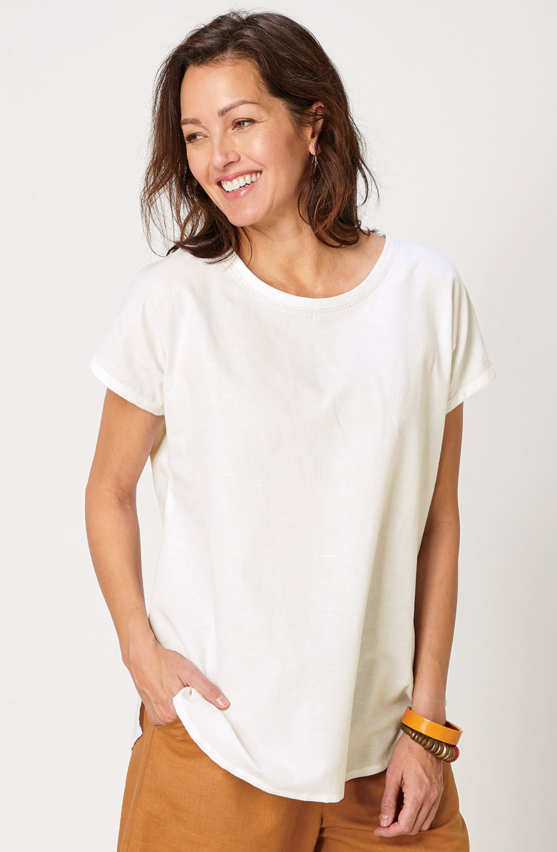 Bimala Top - Soft white