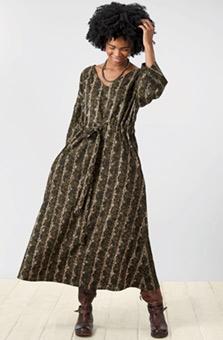 Piyali Dress - Dark olive