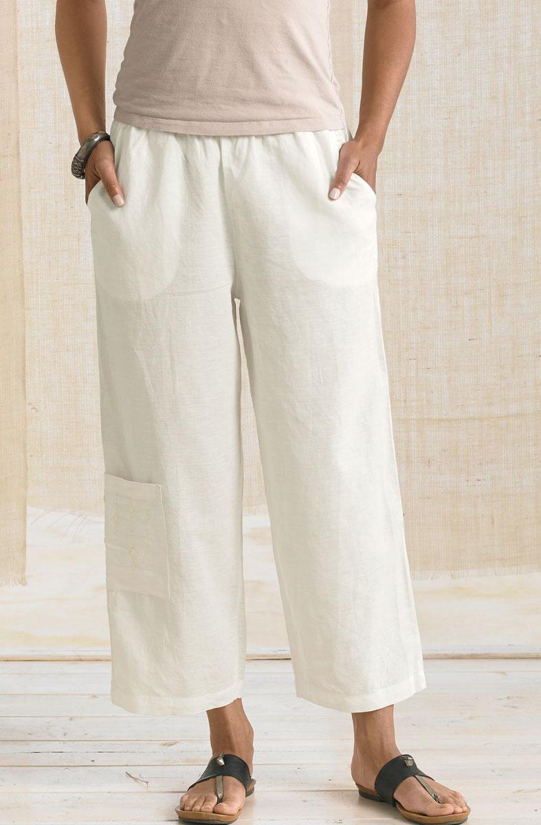Kesari Cargo Pant - Soft White