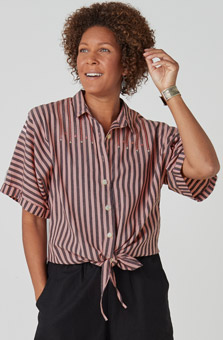 Tevana Shirt - Pink lemonade Black