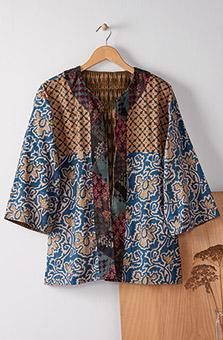 Reversible Trishna Jacket - Blue/Hickory