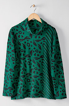 Cowl Pullover - Evergreen heather