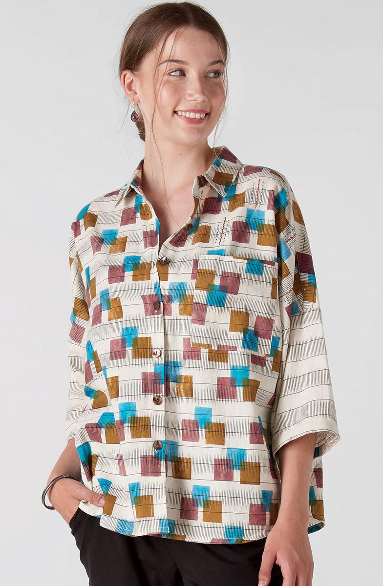 Maithree Big Shirt - Natural Multi