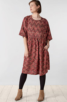 Sakshi Dress - Cranberry