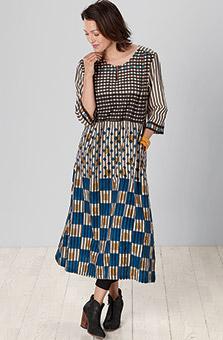Kalindi Dress - Natural Multi