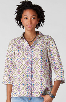 Nashita Shirt - Flax/Crystal rose