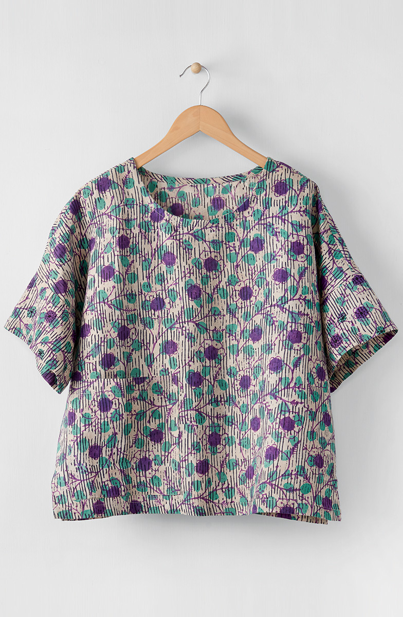Shalini Top - Flax/Purple